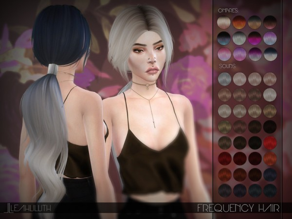 The Sims Resource: Frequency Hair by LeahLillith for Sims 4