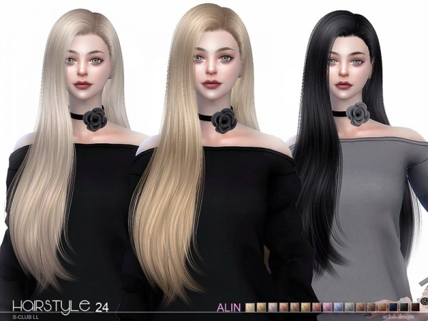The Sims Resource: Hair Alin n24 by S Club for Sims 4