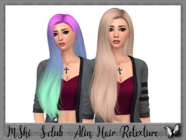 The Sims Resource: S club`s Alin Hair Retextured by mikerashi for Sims 4
