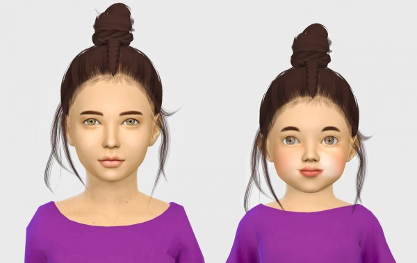 Simiracle: Unise   Kids and Toddlers hair retextured for Sims 4