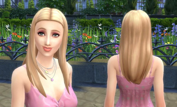 Mystufforigin: Rebecca hair retextured for Sims 4