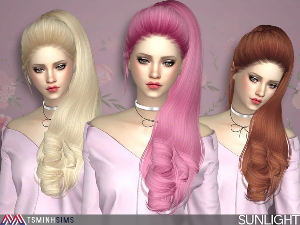 The Sims Resource: Sunlight Hair 42 by TsminhSims for Sims 4