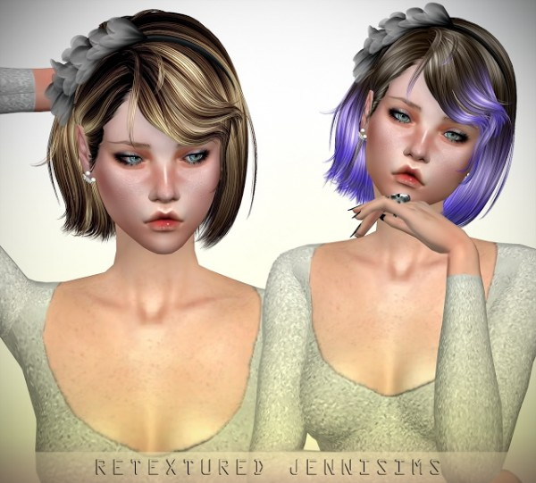 Jenni Sims: Newsea`s Sweet Scar Hair retextured for Sims 4