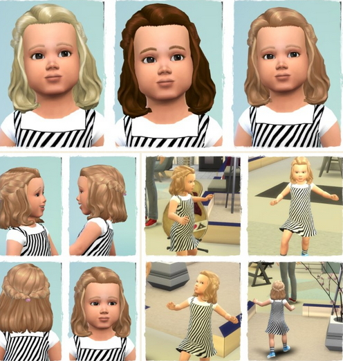 Birksches sims blog: Summer Braided Halfup hair for Sims 4