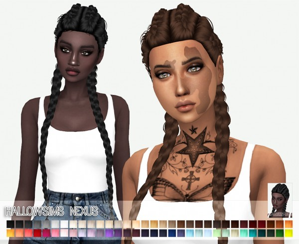 Miss Paraply: Hallow`s Nexus hair retextured for Sims 4