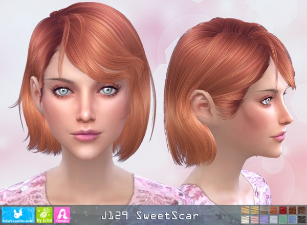 NewSea: J129 Sweet Scar hair for Sims 4