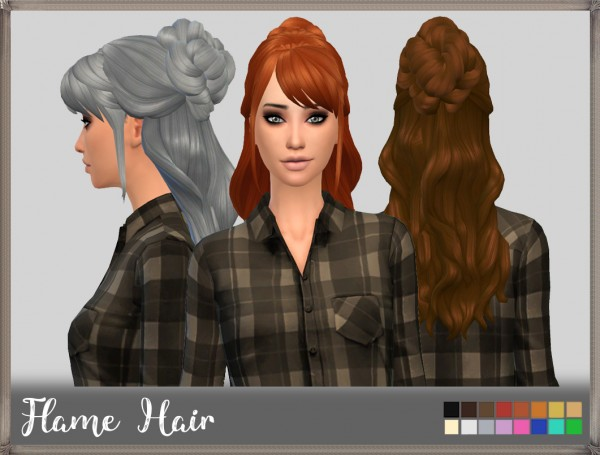 Mikerashi: Flame Hair retextured for Sims 4