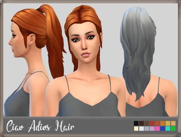 Mikerashi: Ciao Adios Hair for Sims 4
