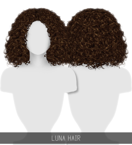 Simpliciaty: Luna hair for Sims 4