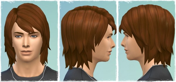 Birksches sims blog: Moody Blues Hair for Sims 4
