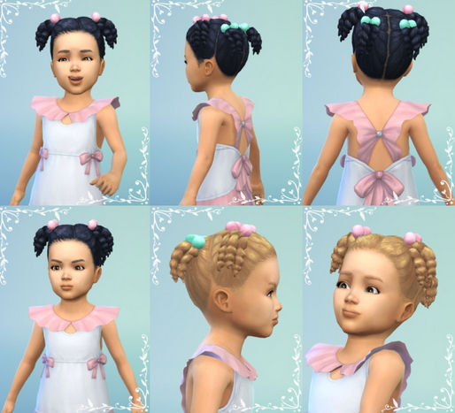 Birksches sims blog: Shorter Twistails hair for Sims 4