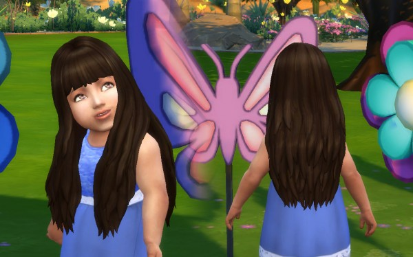 Mystufforigin: Long NO Dipped Color for Toddlers for Sims 4