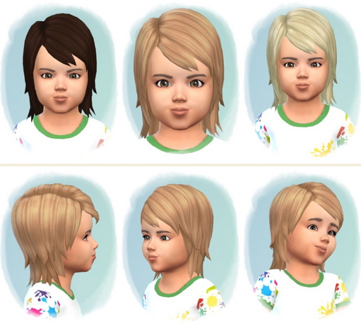 Birksches sims blog: Little Matz Hair for Sims 4