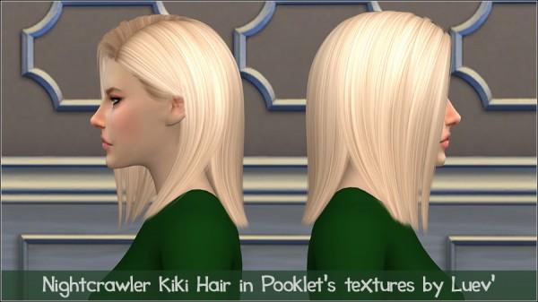 Mertiuza: Nightcrawler`s Kiki hair etextured for Sims 4