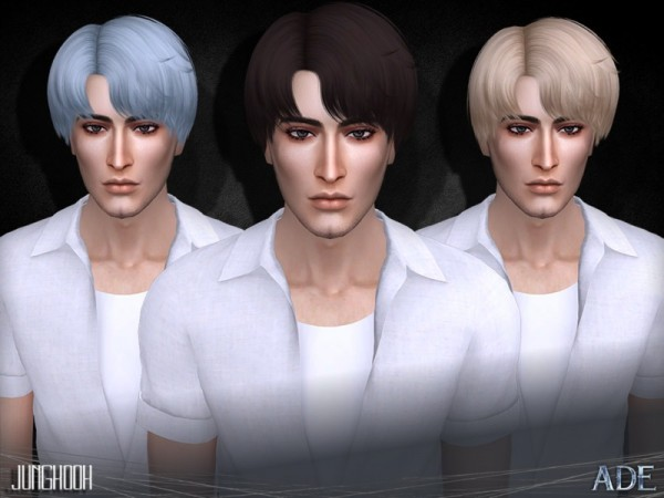The Sims Resource: Jungkook hair by Ade Darma for Sims 4