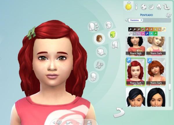 Mystufforigin: Lara hair retextured for Sims 4
