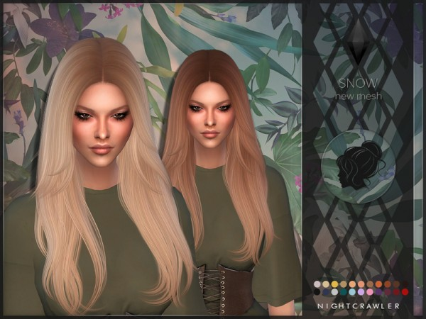 The Sims Resource: Snow hair by Nightcrawler for Sims 4