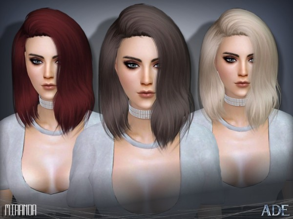 The Sims Resource: Miranda hair  by Ade Darma for Sims 4