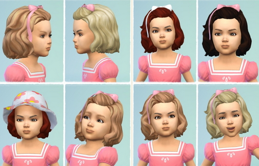 Birksches sims blog: Toddler's Birthday Hair for Sims 4