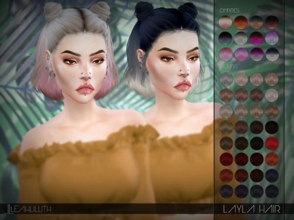 The Sims Resource: Layla Hair by Leah Lillith for Sims 4