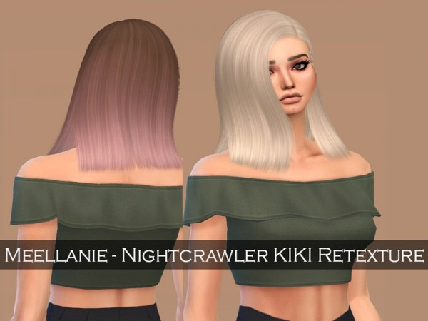 The Sims Resource: Nightcrawler`s KIKI hair retextured by Meellanie for Sims 4