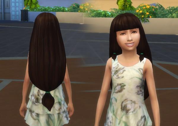 Mystufforigin: Lila Hair for Girls for Sims 4