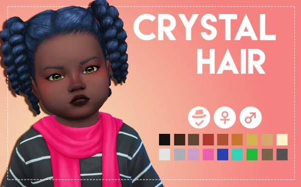 Simsworkshop: Crystal Hair by Weepingsimmer for Sims 4