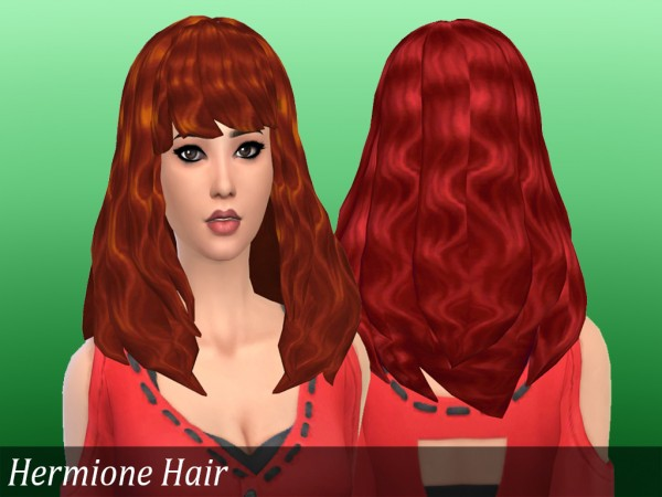 Mikerashi: Hermione Hair retextured for Sims 4
