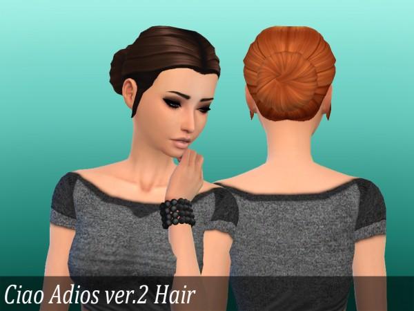 Mikerashi: Ciao Adios ver.2 Hair retextured for Sims 4