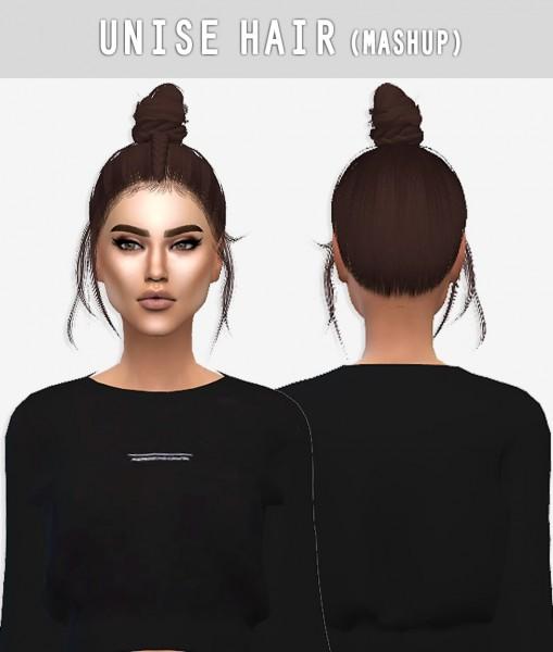 Arthurlumierecc: Unise hair for Sims 4