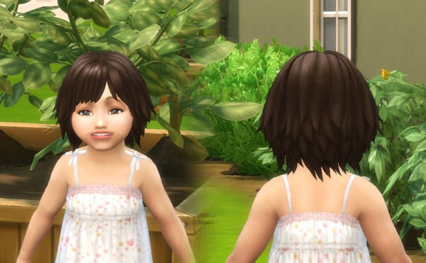 Mystufforigin: Bumbling Hair for Toddlers for Sims 4