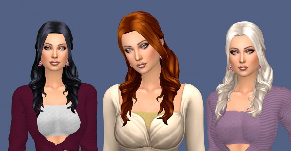 Sims Fun Stuff: Mikerashi`s Trilogy hair recolor for Sims 4