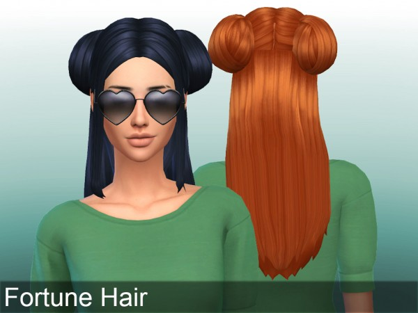 Mikerashi: Fortune Hair retextured for Sims 4