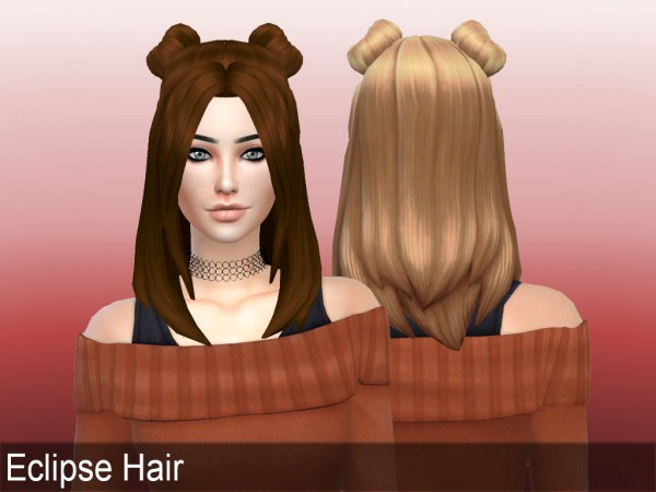 Mikerashi: Eclipse Hair for Sims 4