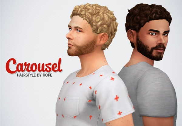 Simsontherope: Carousel hair retextured for Sims 4