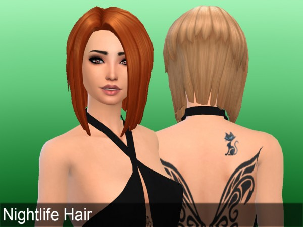 Mikerashi: Nightlife Hair retextured for Sims 4