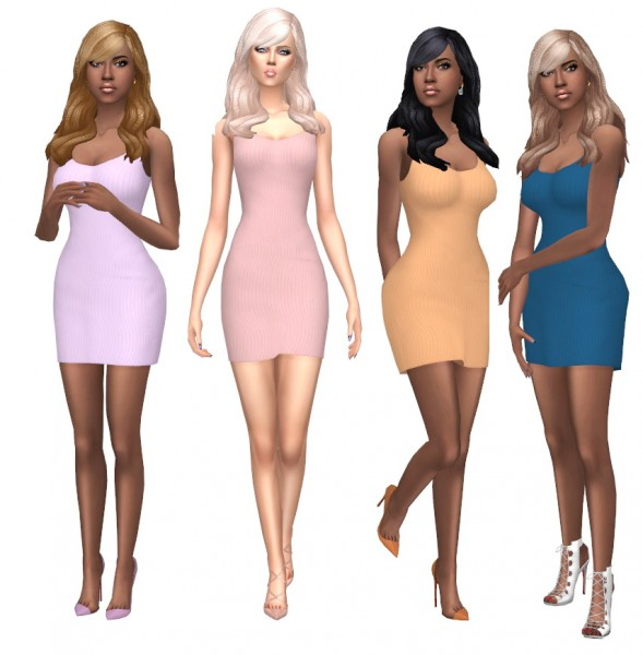 Sims Fun Stuff: Birksche`s Side by Side hair retextured for Sims 4