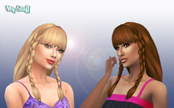 Mystufforigin: Renewal Braids Conversion for Sims 4