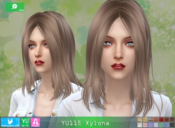 NewSea: YU115 Xylona hair for Sims 4