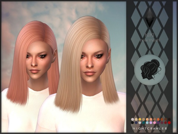 The Sims Resource: Nightcrawler`s Kiki hair for Sims 4