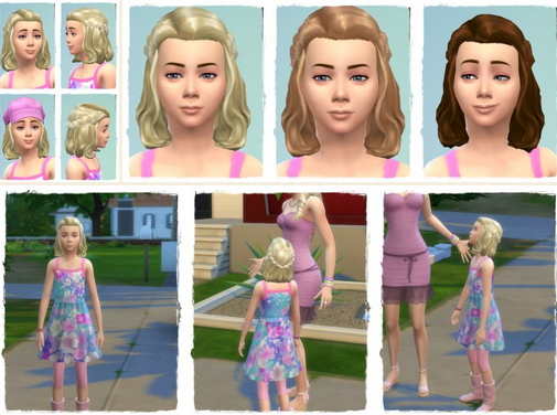 Birksches sims blog: Summer Braided Halfup Girl for Sims 4