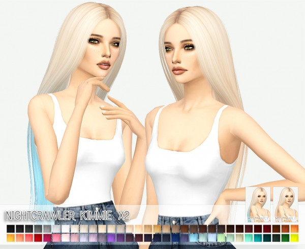 Miss Paraply: Nightcrawler`s Kimmie Hair retextured for Sims 4
