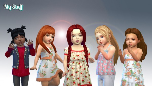 Mystufforigin: Toddlers Hair Pack 10 for Sims 4
