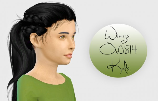 Simiracle: Wings Os0814 hair retextured  Kids Version for Sims 4