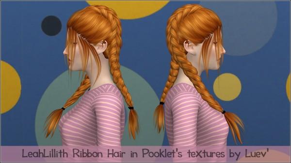 Mertiuza: Leahlillith`s Ribbon hair retextured for Sims 4