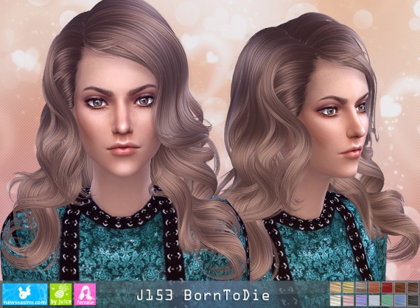 NewSea: J153 Bor To Die hair for Sims 4