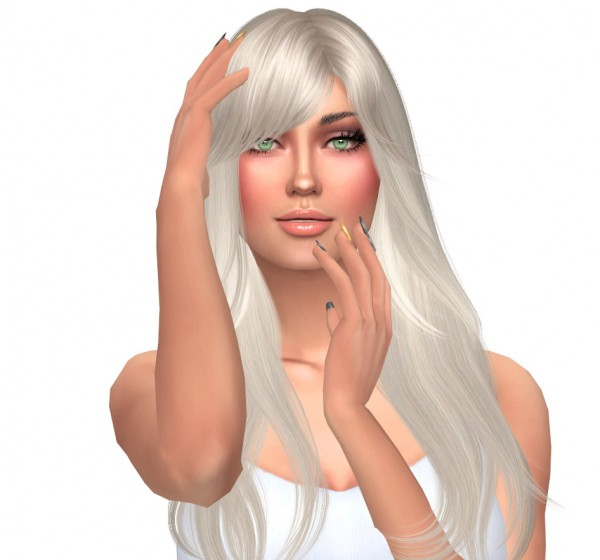 Sims Fun Stuff: Nightcrawler`s Snow hair retextured for Sims 4