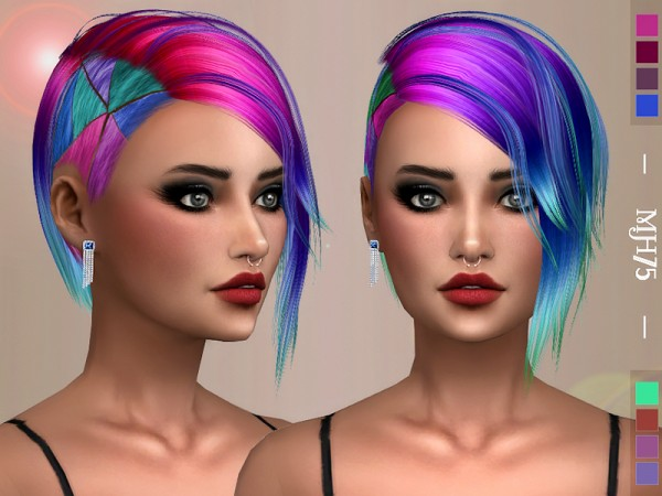 The Sims Resource: Unicorn Hair Retextured by Margeh 75 for Sims 4
