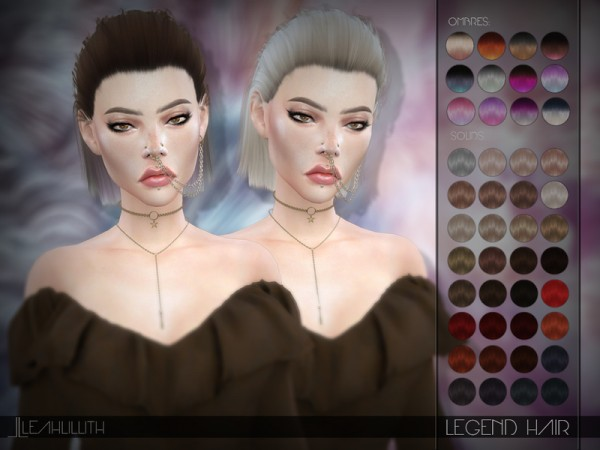 The Sims Resource: Legend Hair by LeahLillith for Sims 4