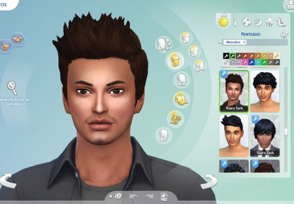 Mystufforigin: Robert Hair retextured for Sims 4